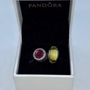 PANDORA Disney Belle Murano Bead & Radiant Rose